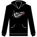 """Synthpop Music"" Logo Hooded, size S1"