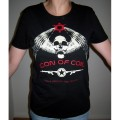 "Icon of Coil - Girlie Shirt ""Still Hunting The Demons"", black, size L1"